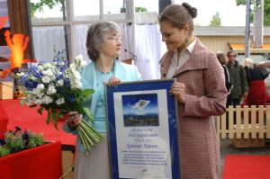 Katherine Paterson with HRH Crown Princess Victoria of Sweden