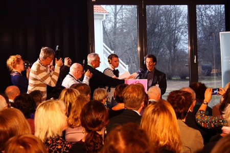 Larry Lempert during the 2011 announcement at Astrid Lindgren's Näs. Photo: Emma Jansson