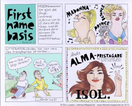 By Elin Lucassi, illustrator and cartoonist, for LitteraturMagazinet.