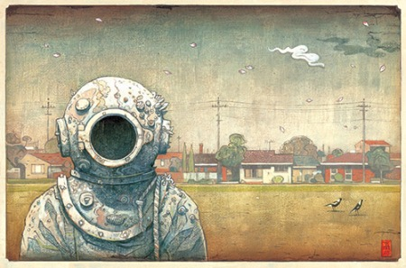 The visitor by Shaun Tan.