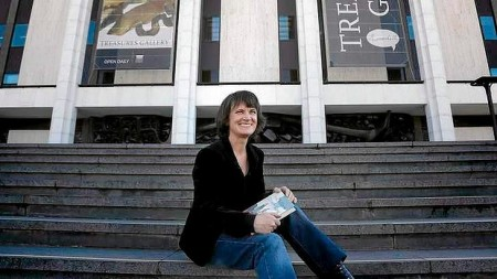 Sonya Hartnett at the National Library of Australia. Photo: Jeffrey Chan