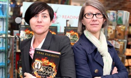 Anne Plichota and Cendrine Wolf, authors of Oksa. Photo: Guardian Children's Books.