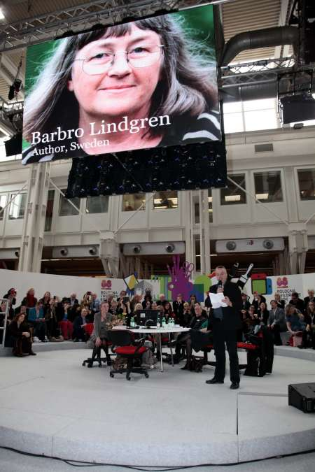 ...author Barbro Lindgren from Sweden. Jury member Mats Berggren presents Barbaro Lindgren's works.