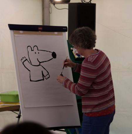 Author and illustrator Lucy Cousins participated in last year's festival. Photo: Junibacken