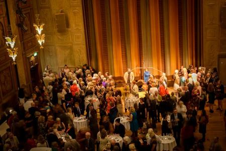A toast for Barbro Lindgren at the Grünewald Hall.