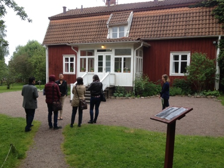 Visit to Astrid Lindgren's childhood home at Näs, Vimmerby. Photo: Sergio Guimaraes, Swedish Institute