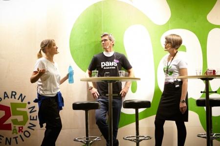 Victoria Caliber, Johan Unenge and Lotta Brilioth Biörnstad from the Swedish Arts Council.