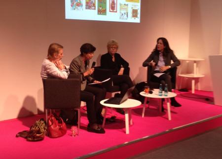 ALMA Director Helen Sigeland, Silke Weitdendorf, Oetinger Verlag, Boel Westin, Jury Chairman and journalist Felicitas von Lovenberg.
