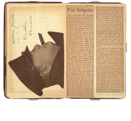 Astrid Lindgren's diary. Churchill. Photo: National Library of Sweden, Andrea Davis Kronlund