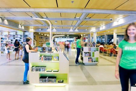 Library Sölvberget in Stavanger, Norway. Photo: Anne Lise Norheim