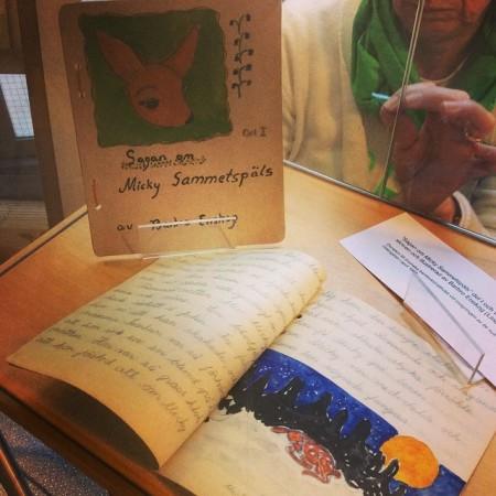 Sagan om Micky Sammetspäls, written by Barbro Lindgren at the age of 12. Photo: Sölvberget