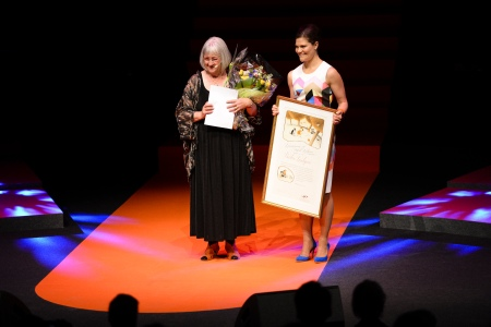 2014 laureate Barbro Lindgren and Crown Princess Victoria at last year's Award ceremony. Photo: Stefan Tell