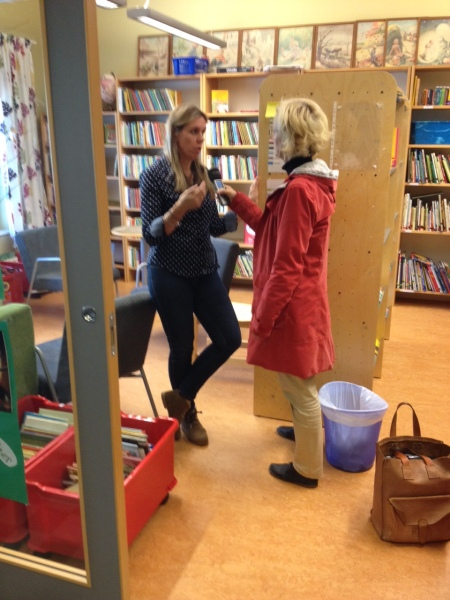 Interview with Swedish National Radio at Emmaskolan.
