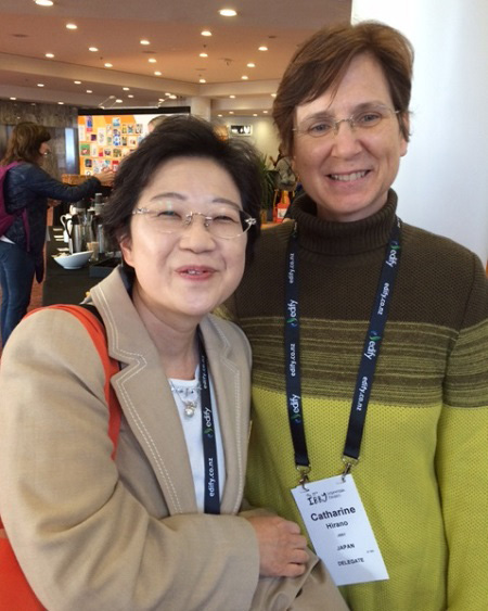 Nahoko Ueshari (writer) and Cathy Hirano (translator)